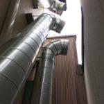 排気 ダクト 制作 製作 工事 45度 配管 煙突