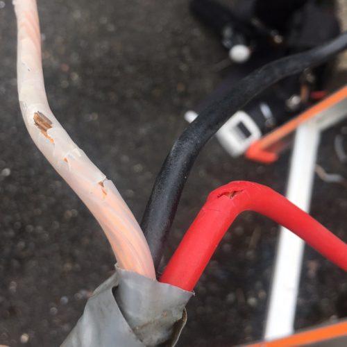 配線の修理 漏電ブレーカー